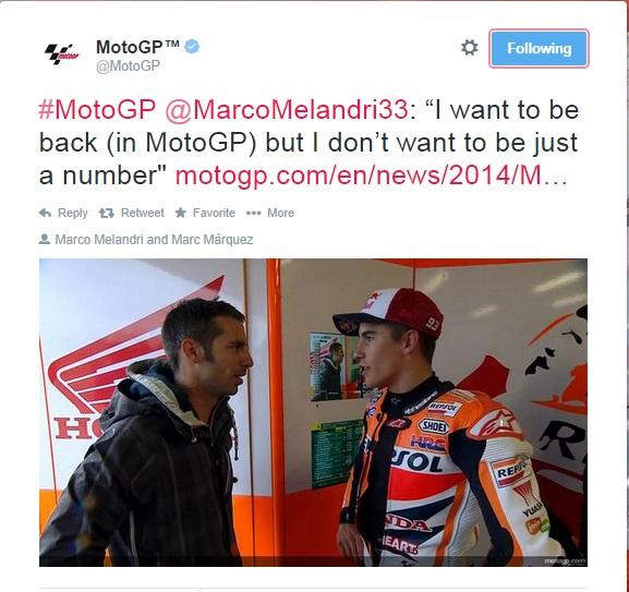 Twitter MotoGP Marco Melandri